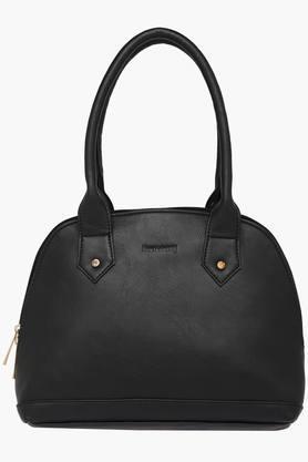 Womens Zipper Closure Synthetic Leather Shoulder Handbags