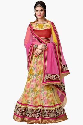 MAHOTSAV Womens Embroidered Semi-stitched Lehenga Choli - 201661806
