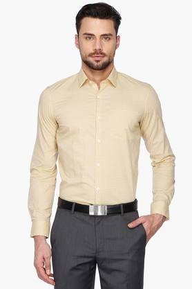 Arrow Ties Formal Shirts (Men's) - Mens Regular Collar Check Shirt