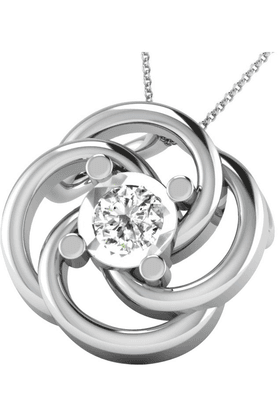 SPARKLES His & Her Collection 92 Kt His & Her Collection Women 925 Sterling Silver Solitaire Diamond Pendant HHDRP9641-92KT