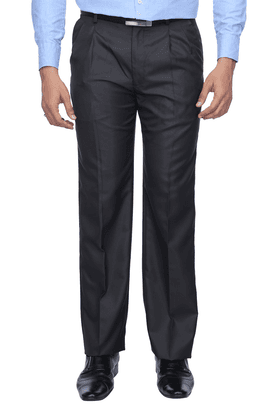 ARROW Mens Pleated Front Slim Fit Solid Formal Trouser