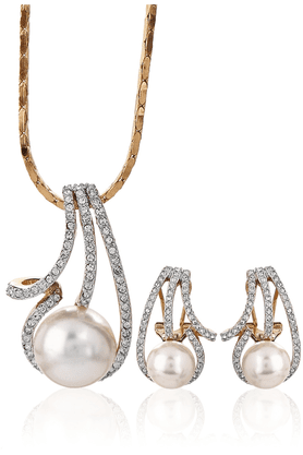 SIA Golden Pendant Set-16545
