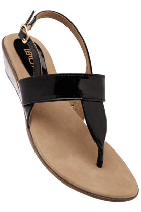 LEMON & PEPPER Womens Ankle Closure Wedge Sandal