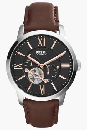 Mens Automatic Analogue Leather Watch