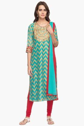 RS BY ROCKY STAR Womens Churidar Kurta Dupatta Set