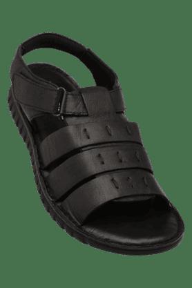 FRANCO LEONEMens Velcro Closure Casual Sandal