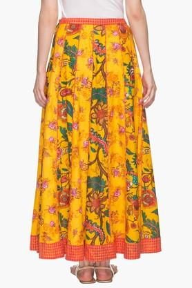 Womens Printed Flared Long Skirt