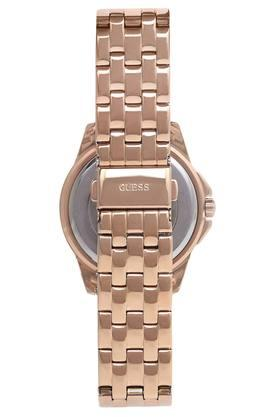 Womens Rose Gold Dial Analogue Metallic Watch - W1235L3