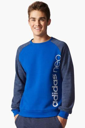ADIDAS Mens Round Neck Colour Block Sweatshirt
