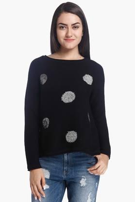 ONLY Womens Round Neck Embellished Pullover (Buy For Rs.5000/- And Get Rs.1000/- Off)