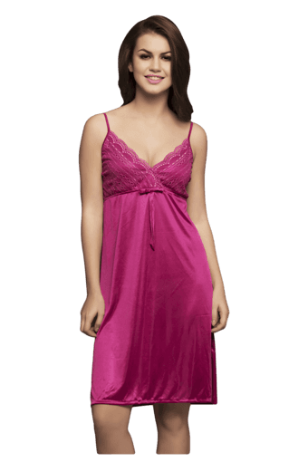 Buy CLOVIA Set Of 2 Pc Satin Nightwear-Nighty And Robe  b9b031a6a