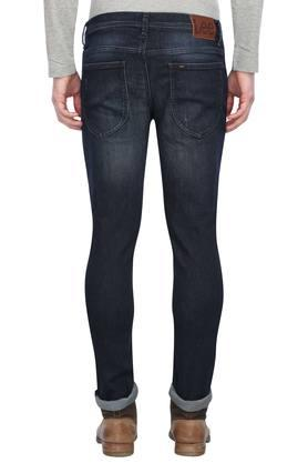 Mens Skinny Fit Mild Wash Jeans (Low Bruce Fit)