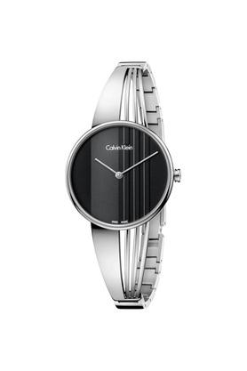 Womens Damenuhr Black Dial Metallic Analogue Watch - K6S2N111