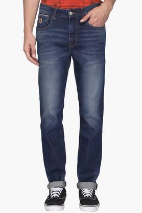 U.S. POLO ASSN. DENIMMens Tapered Fit Heavy Wash Jeans (Delta Fit)