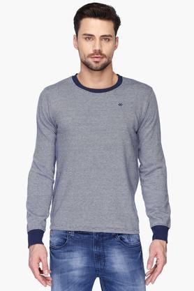 WROGNMens Round Neck Slim Fit Slub Sweatshirt