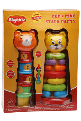 Mitashi Inflatable Toys - Unisex Cup and Ring Stack Party Toy