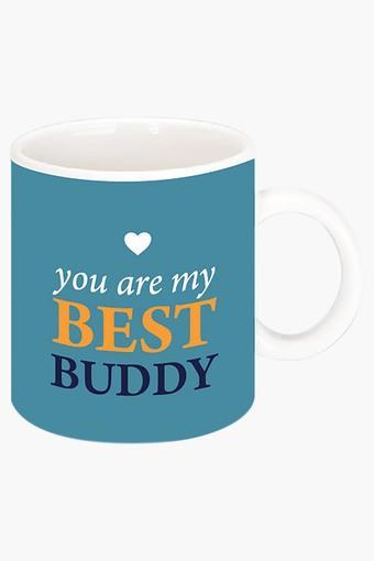 Best Buddy Mug Printed Ceramic Coffee Mug