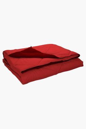 STOA PARISRed Coral Reversible Microfiber Comforter (Comforter (Double)