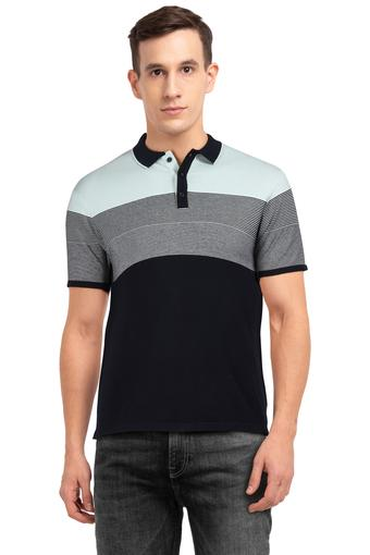 Mens Colour Block Polo T-Shirt