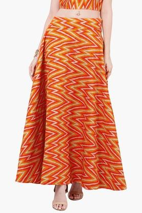 INDYA Womens Printed Maxi Skirt - 201845614