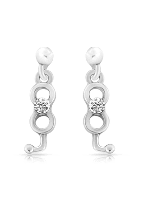 MAHIMahi Rhodium Plated Neoteric Earrings With Crystals For Women ER1103684R