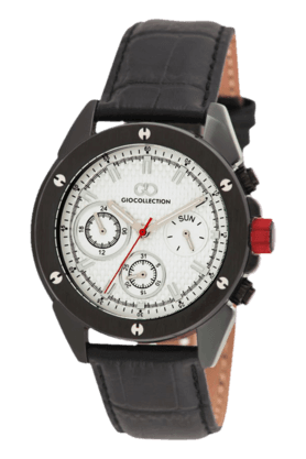 White Dial Grey Case Mens Watch - G1001-03