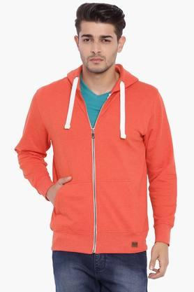 BLUE SAINT Mens Red Hooded Sweatshirt