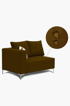 Chocolate Brown Water Repellent Fabric Sofa (Lounger)