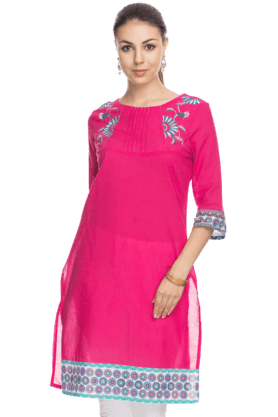 AURELIA Women Regular Fit Casual Kurta