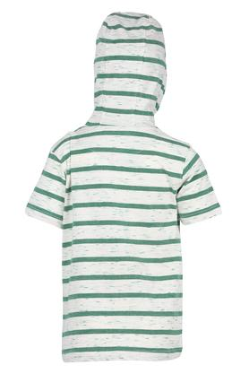 Boys Hooded Neck Graphic Print Tee