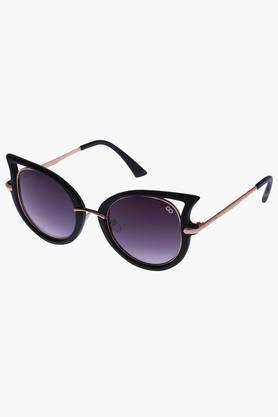 Womens Cat Eye Polycarbonate Sunglasses VS128C1BK