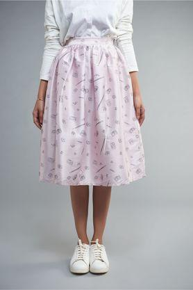Women Short Skirt With Printed Knife Pleat