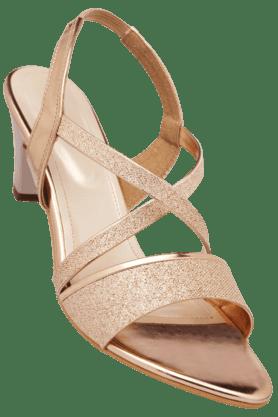 HAUTE CURRYWomens Party Wear Slipon Heel Sandal
