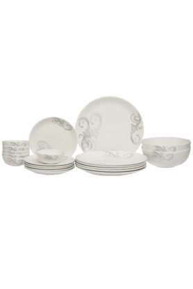 IVY Scroll Azure Dinner (Set Of 20)