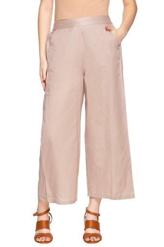 Womens 2 Pocket Solid Parallel Pants