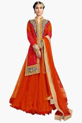 MAHOTSAV Womens Embroidered Semi-stitched Lehenga Choli - 201661614