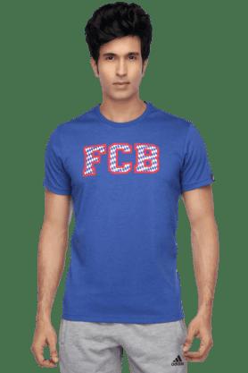 ADIDASMens Short Sleeves Regular Fit Round Neck Printed T-Shirt