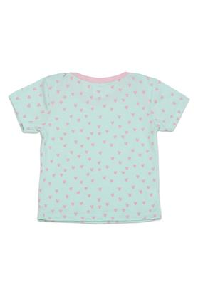Girls Envelope Neck Printed and Striped Tee - Pack of 3
