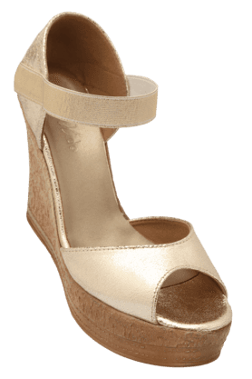 RAW HIDEWomens Party Wear Slipon Wedge Sandal