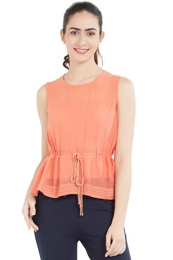 SOIE -  Peach Tops & Tees - Main