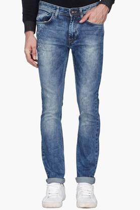 Vdot Jeans (Men's) - Mens Stone Wash Whiskered Jeans