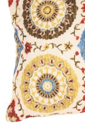 Rectangular Embellished Ethnic Cushion Cover