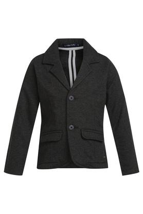 Boys Notched Lapel Slub Blazer