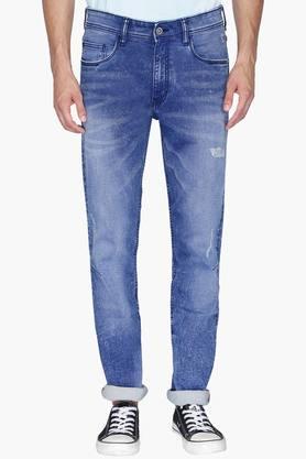 Izod Jeans (Men's) - Mens Slim Fit 5 Pocket Stone Wash Jeans