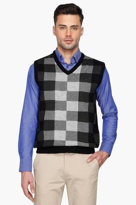 STOP Mens Chequered Sweater