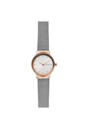 Womens White Dial Stainless Steel Analogue Watch - SKW2716