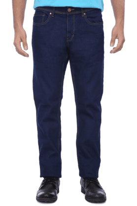 BEING HUMANMens 5 Pocket Regular Fit Stretch Jeans