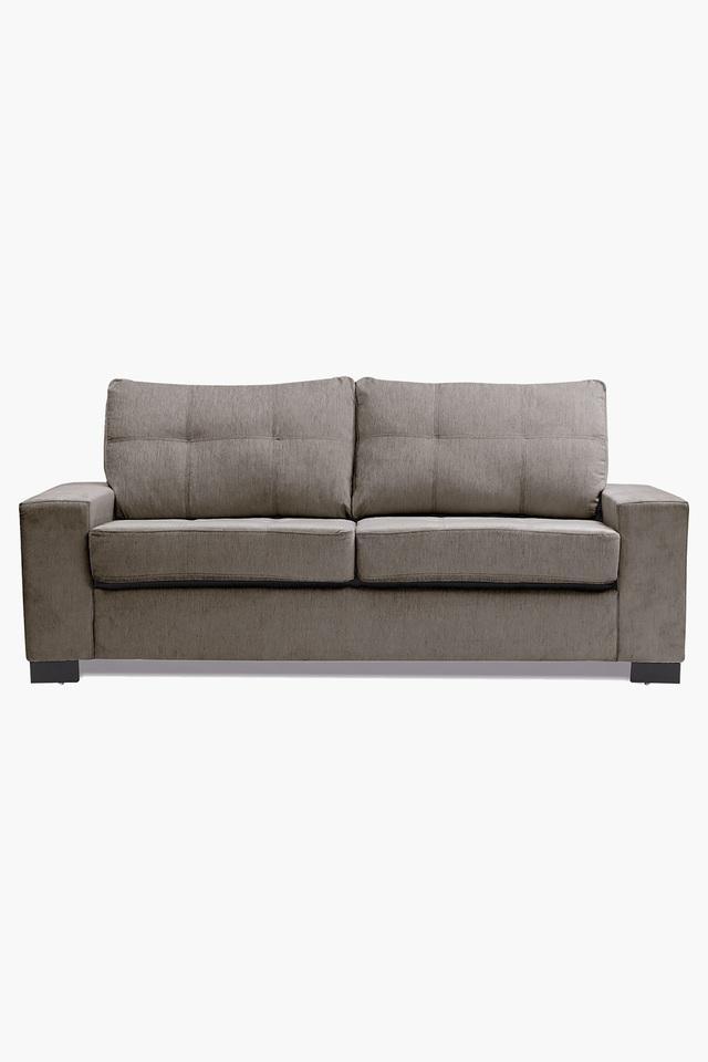 Crystal Grey Fabric Sofa (3 - Seater)