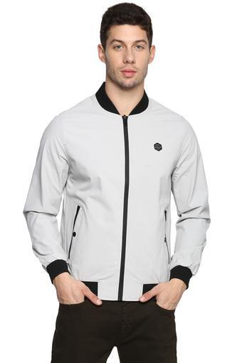 Mens Mao Collar Solid Reversible Jacket