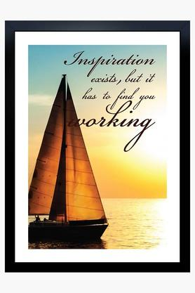 CRUDE AREA Multi Colour Inspiration Printed Paper Poster  ...